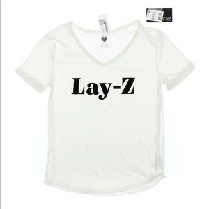 "⚜️ Brand New ""Lay - Z"" V-Neck T ⚜️ Size XS ⚜️"